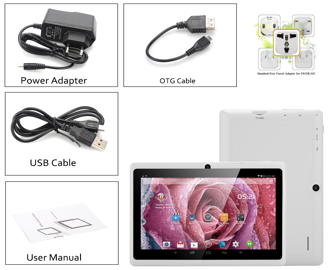 Orion - 7 Inch Android 4 4 Tablet (A33 1 3GHz Quad Core CPU