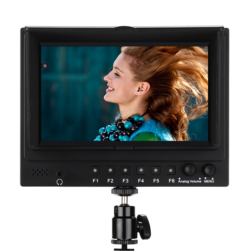 Wholesale 7 Inch HD DSLR Camera Monitor (3G-SDI/HDMI Ports, 700: 1, 1024x600, 1080p)