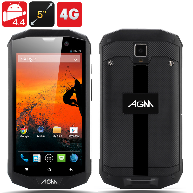 Wholesale AGM 5S IP67 Rugged 4G Android Phone (Silver, 5 Inch, MSM8926 1.2GHz Quad Core, Waterproof, Shockproof, Dust Proof)