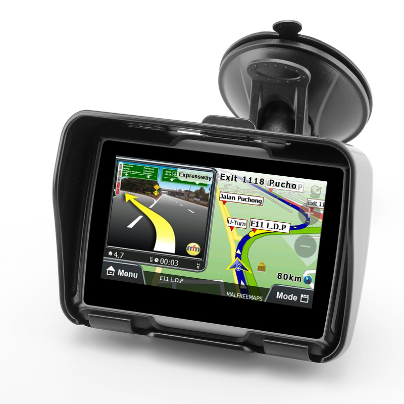 Wholesale Rage - All Terrain IPX7 Waterproof Motorcycle GPS Navigation System (4.3 Inch, 4GB, Bluetooth, Black)