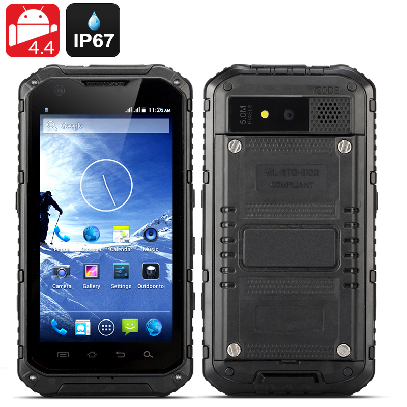 Wholesale Ox II - 4.3 Inch Android Rugged Smartphone (Quad Core, IP67 Waterproof + Dust Proof, OTG, 3000mAh, Black)