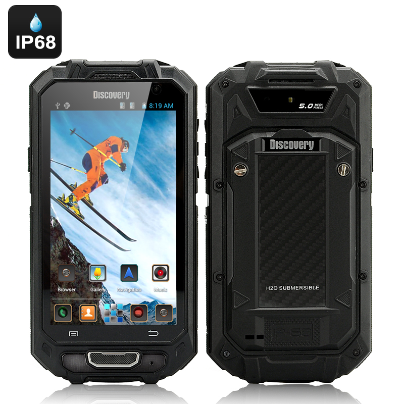 Wholesale Discovery - 4.5 Inch 3G Android Rugged Phone (Dual SIM, Dual Core, IP68 Waterproof, Shockproof, Dust proof, Black)