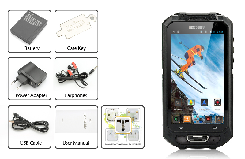 Discovery 4 5 Inch 3g Android Rugged Phone Dual Sim