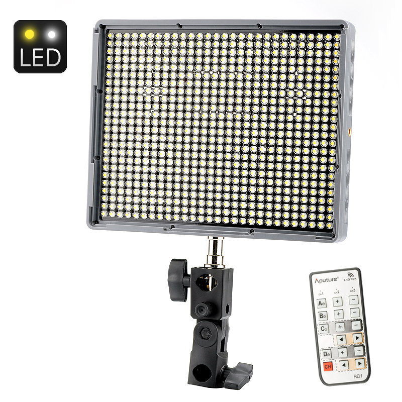 Wholesale Aputure HR672C Wireless Remote LED Video Light for DSLR/Camcorder (672 LEDs, 6620 Lumens, Adjustable Color Temperature)