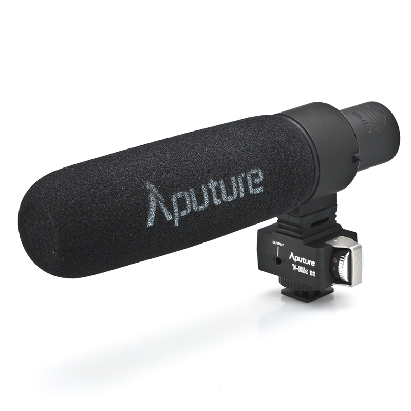 Wholesale Aputure V-Mic D2 Condenser Shotgun Microphone (Adjustable AF PEAK, Flat Frequency Response, Low-Cut Filter)