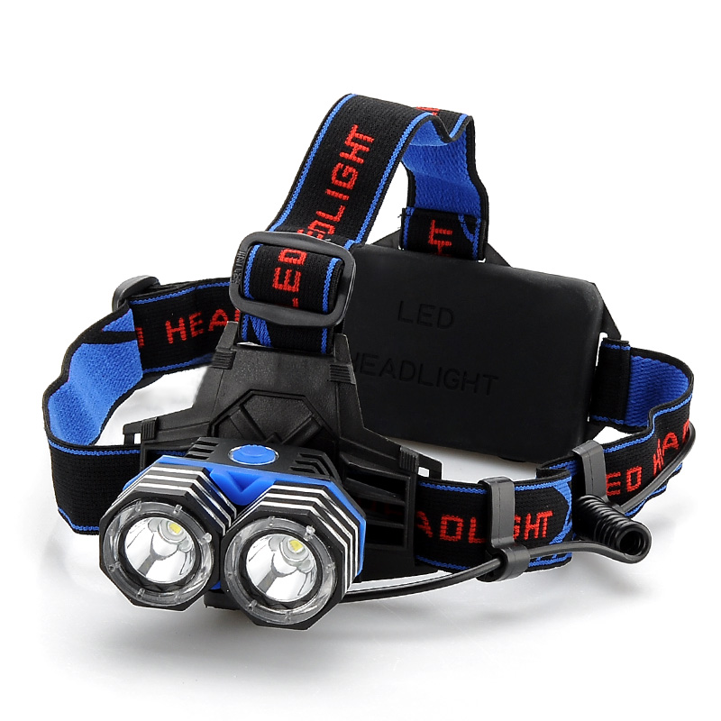 Wholesale CREE XM-L 2x T6 LED Headlamp with USB Port - 1600 Lumens