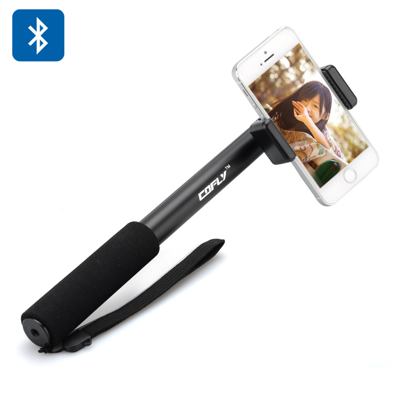 Wholesale Cofly Bluetooth 3.0 Extendable Monopod Selfie Stick for iOS/Android - Self-Timer Remote Controller