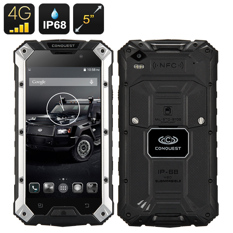 Conquest S6 Plus Rugged Smartphone Ip68 Dust Proof