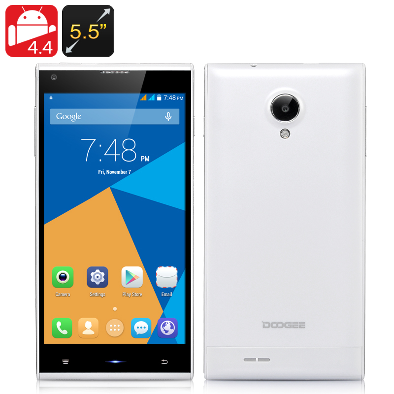Wholesale DOOGEE Dagger DG550 5.5 Inch HD Android Phone (Octa Core 1.7GHz CPU, 13MP Rear Camera + F2.2 Aperture, White)