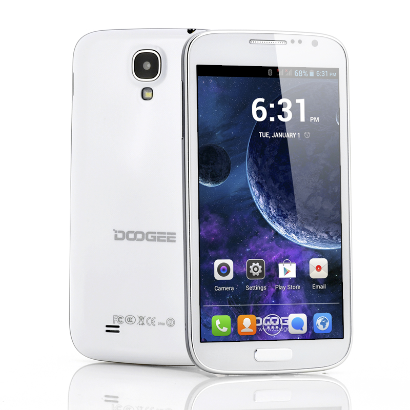 Wholesale DOOGEE Voyager DG300 5 Inch Android Smartphone (1.3GHz Dual Core CPU, 960x540 QHD, White)
