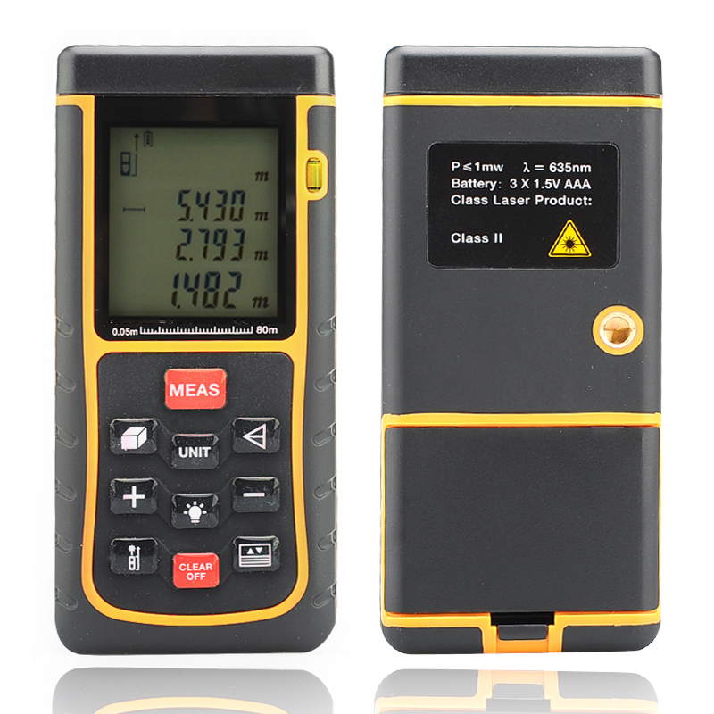 Wholesale High Accuracy Digital Laser Measurer (Spirit Level, 0.05 - 80 Meter, 1/4 Inch Tripod Thread)
