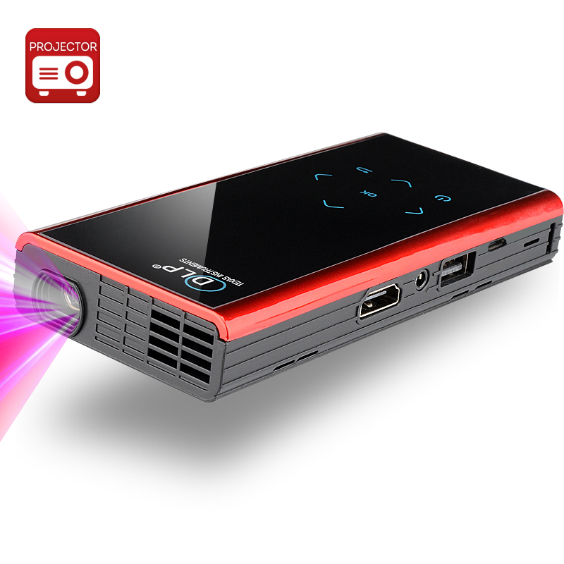 Wholesale E06S Mini 1080p Android 4.2 DLP Projector (120 Lumens, Wi-Fi, Bl