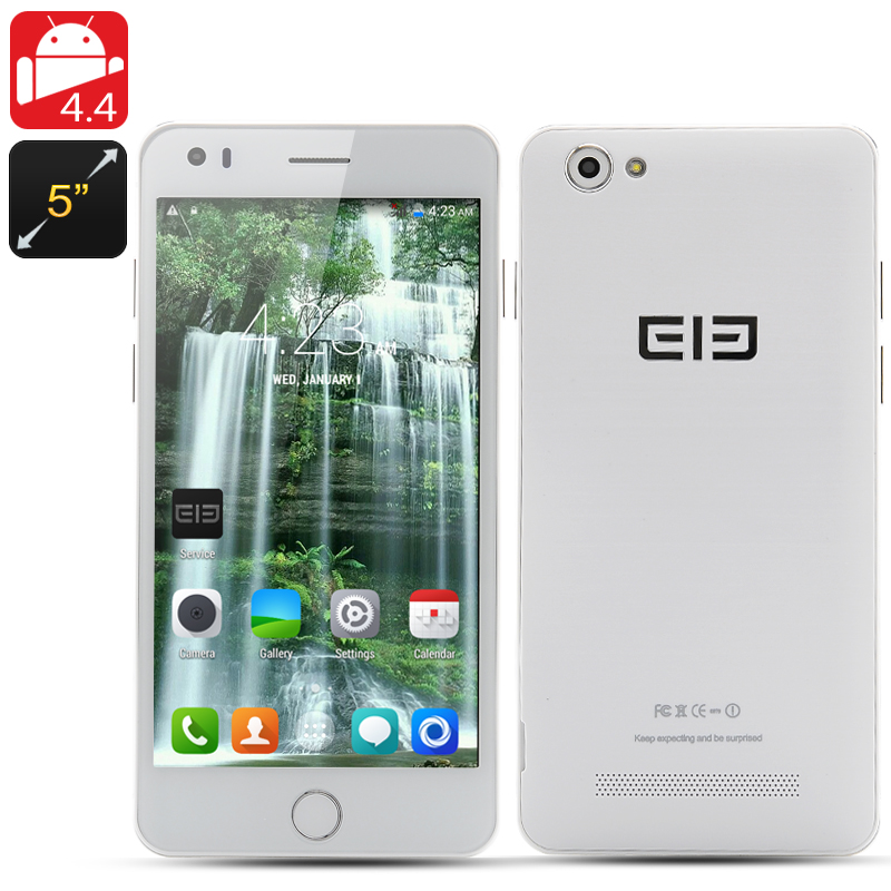 Wholesale Elephone P6i 5 Inch Android Smartphone (960x540, MT6582 Quad-Core 1.3GHz CPU, 1GB RAM, 4GB, White)