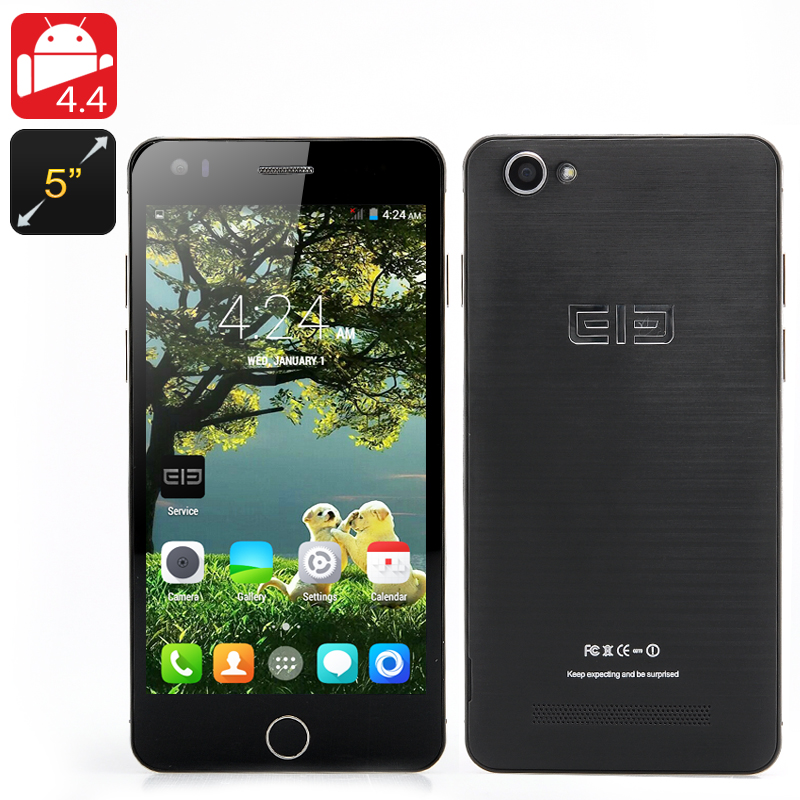 Wholesale Elephone P6i 5 Inch Android Smartphone (960x540, MT6582 Quad-Core 1.3GHz CPU, 1GB RAM, 4GB, Black)
