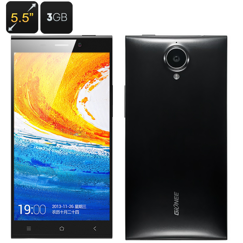 Wholesale Gionee Elife E7 5.5 Inch Android Smartphone (1920x1080p, Quad Core 2.2GHz CPU, 3GB RAM, 32GB ROM, Black)