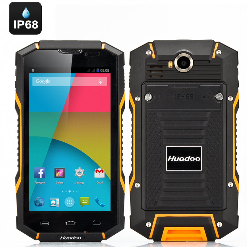 Wholesale Huadoo V4 IP68 Rugged Android Smartphone (Waterproof, Gorilla Gl