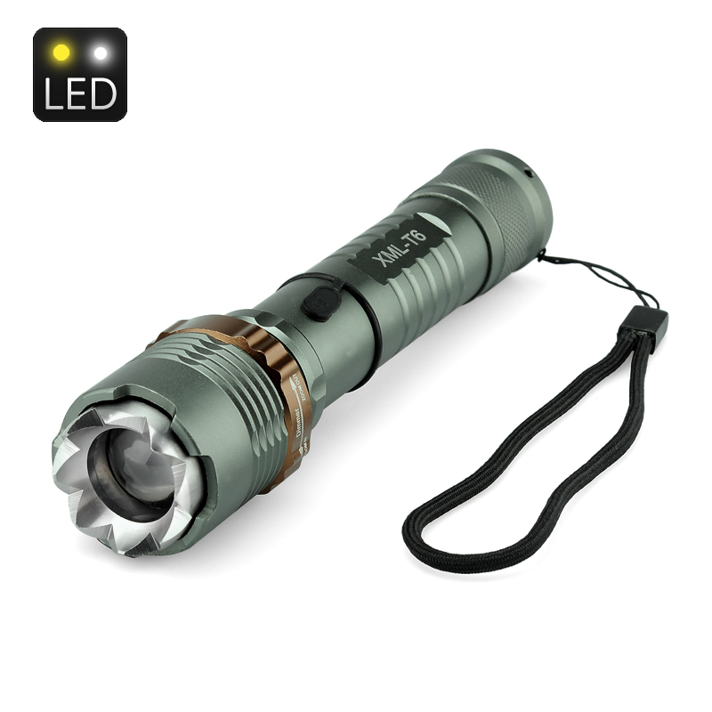 Wholesale Rechargeable LED Flashlight Torch Hammer (CREE XML T6, 1200 Lume