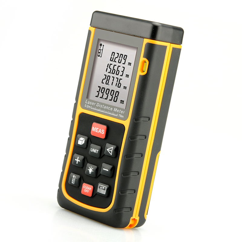 Wholesale IP54 Laser Distance Measurer (0.2 - 70 Meter, 1/4 Inch Tripod Thread, Spirit Level)