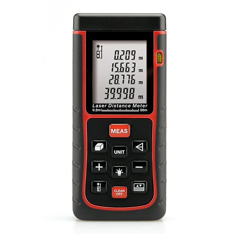 Wholesale IP54 Dustproof Waterproof Laser Distance Meter (0.2 - 50 Meter, Spirit Level + 1/4 Inch Tripod Thread)