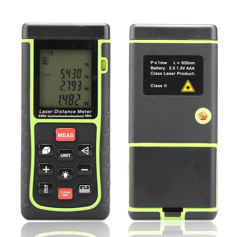Wholesale Laser Distance Measurer (0.05 - 40 Meter, 1/4 Inch Tripod Thread, Spirit Level)