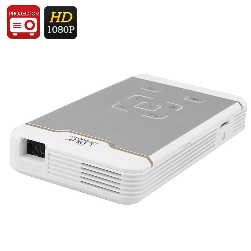 Wholesale Mini Wireless DLP Pocket Projector (Wi-Fi, HDMI/MHL IN, 1080p, 80 Lumens, 2000: 1)