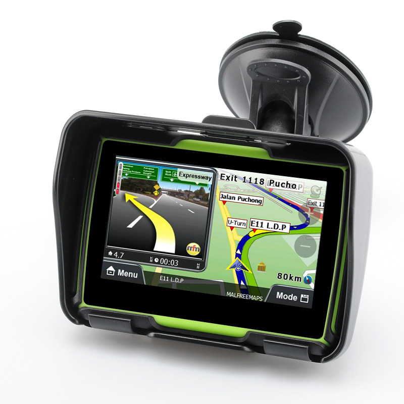 Wholesale Rage - All Terrain IPX7 Waterproof Motorcycle GPS Navigation System (4.3 Inch, 4GB, Bluetooth, Green)