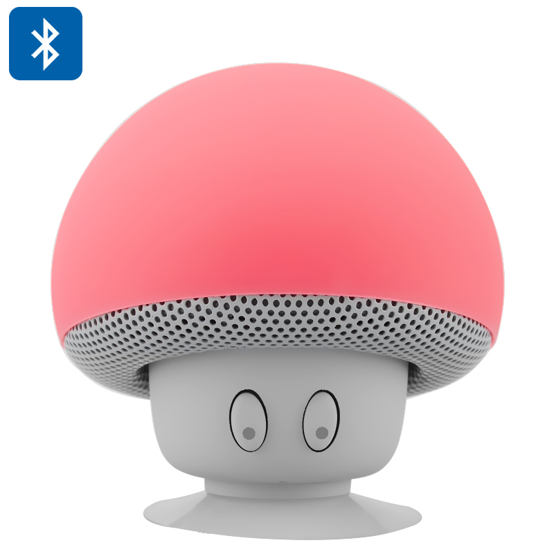 Wholesale Mushroom Bluetooth Speaker with Microphone (Splash-Proof, Answering Calls, 280mAh, Red)