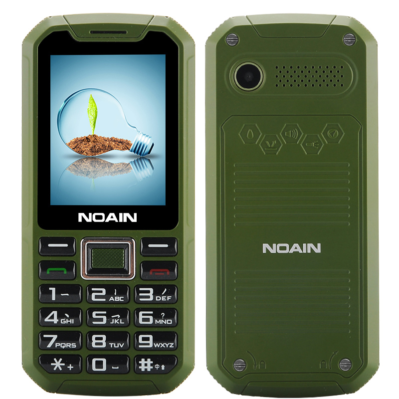 Wholesale NOAIN 007 Rugged Cell Phone (IP67 Waterproof, Dust Proof, Shockproof, 2.4 Inch, Dual SIM Card, Green)