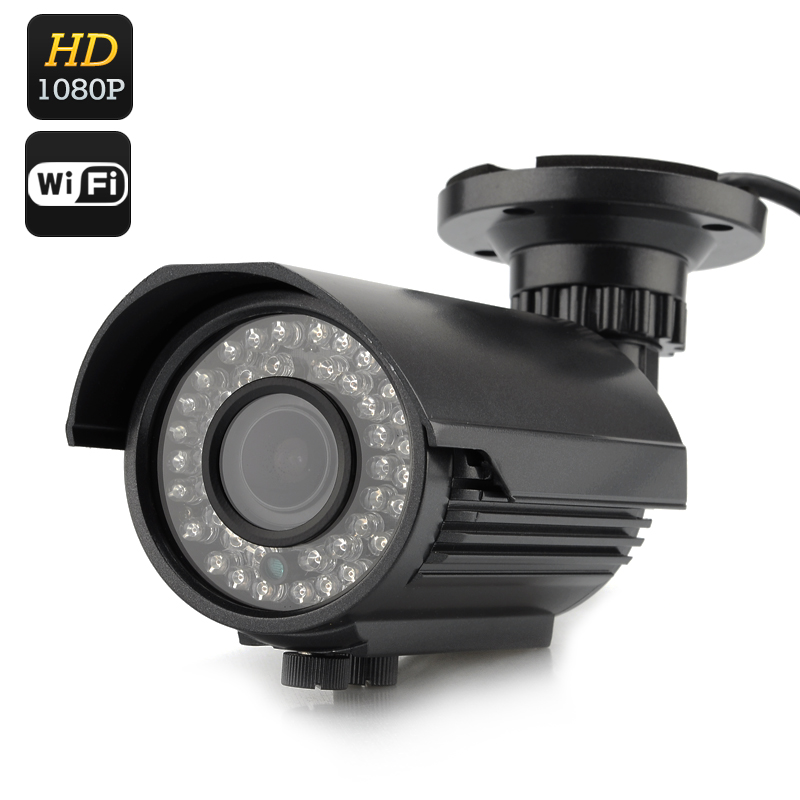 Wholesale Night Vision 1080p Outdoor IP Camera (H.264, 1/4 Inch CMOS, 42 LEDs)