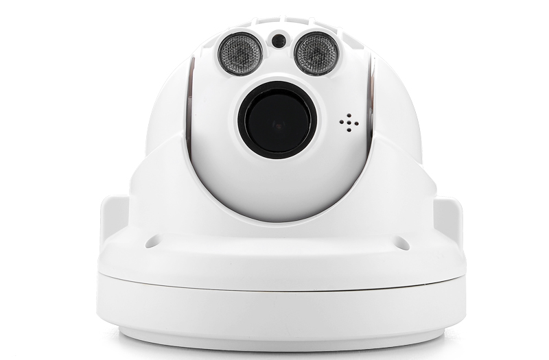 720p PTZ Outdoor Mini IP Camera (Weatherproof, H.264, 4x Optical Zoom, Night Vision, ONVIF)