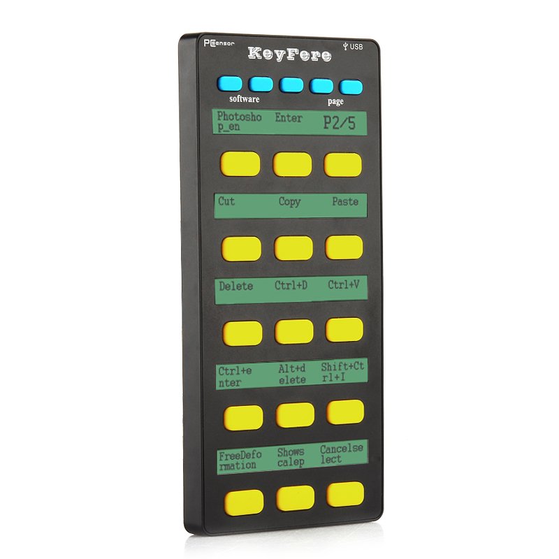 Wholesale PCsensor KeyFere Programmable USB Keyboard for Windows/Android/Mac/Linux (Multi Language, 20 Keys)
