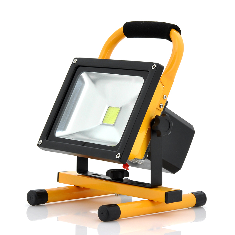 Wholesale Portable Outdoor Flood Light + IP65 Waterproof Camping Light (30W, 2550 Lumens, 8800mAh, 360 Degrees Rotate)