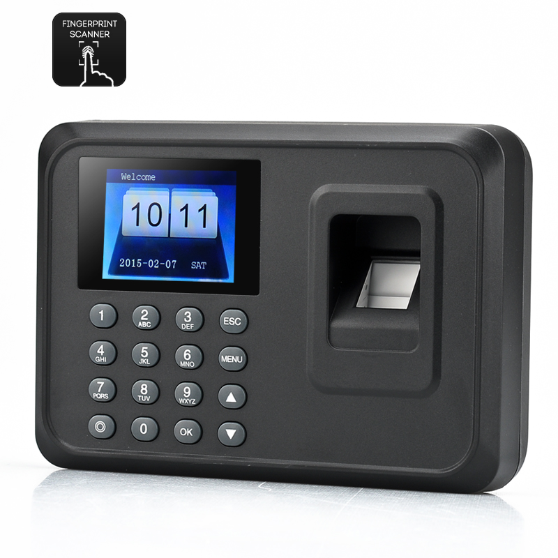 Wholesale 2.4 Inch Self-Service Fingerprint Time Attendance (600 Templates, 100000 Capacity, Fingerprint + Password)