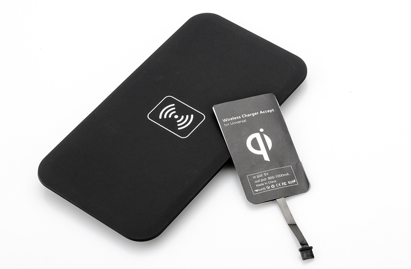 Wholesale Universal Qi Wireless Transmitter Charging Pad with Charger Receiver for Micro-USB Smartphone