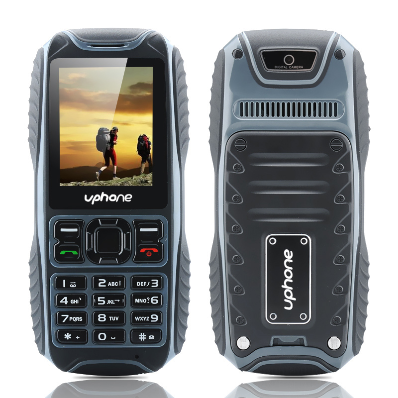 Wholesale Uphone U3A Waterproof Rugged Phone (IP67, 2 Inch, Dual SIM, Rear Camera, Bluetooth, Black)