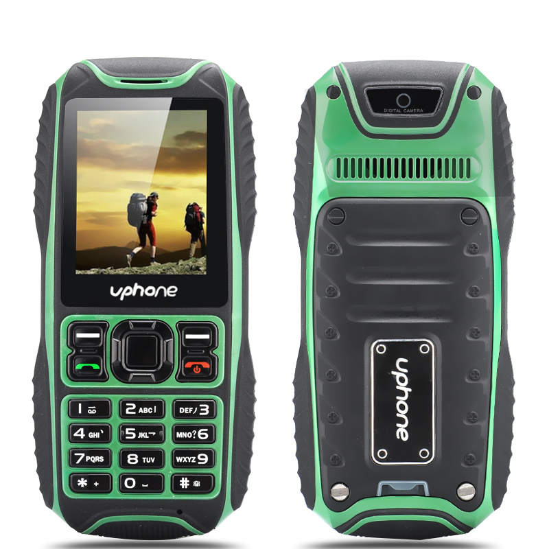 Wholesale Uphone U3A Waterproof Rugged Phone (IP67, 2 Inch, Dual SIM, Rear Camera, Bluetooth, Green)