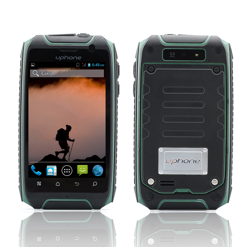 Wholesale Uphone U5+ 3.5 Inch IP67 Waterproof Smartphone (1.3GHz Dual Core CPU, Dual SIM, Dust Proof, Shockproof, Green)