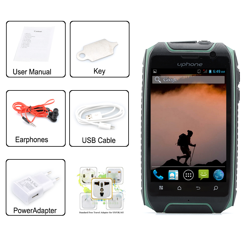 Uphone U5 3 5 Inch Ip67 Waterproof Smartphone 1 3ghz
