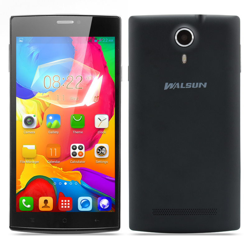 Wholesale Walsun Finder 5.5 Inch Dual Core Smartphone (960x540, MTK6572 1.2GHz CPU, 512MB RAM, Black)