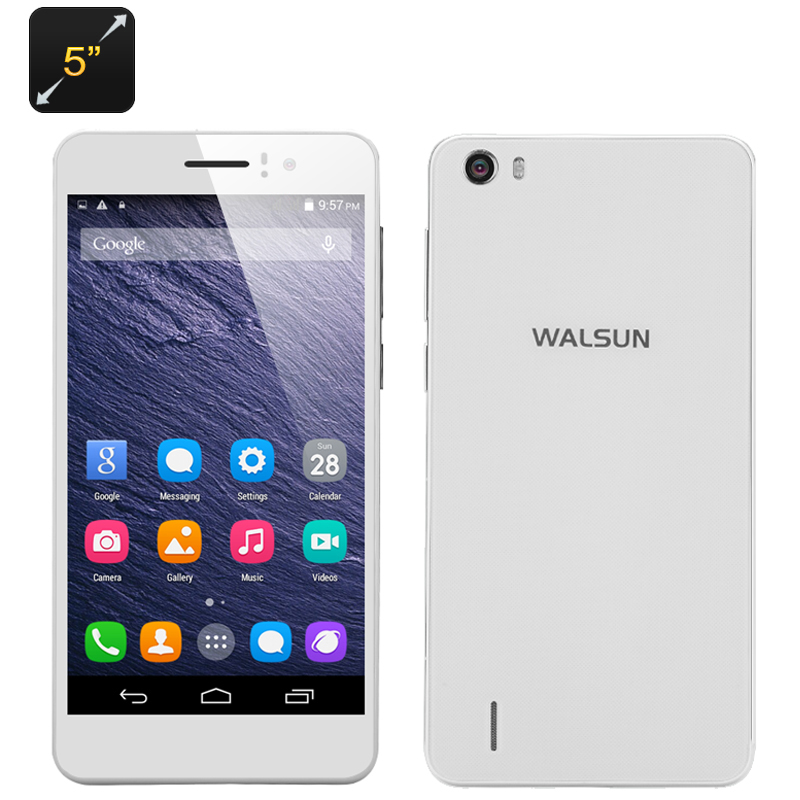 Wholesale Walsun X6 Dual SIM Android Smartphone (3G, 5 Inch, Quad Core 1.3