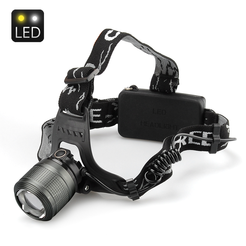 Wholesale Weatherproof Cree T6 LED Headlamp (1200 Lumens, Adjustable Focus, 10W)