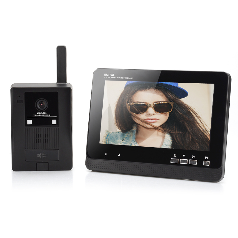 Wholesale Wireless Video Door Phone with 7 Inch LCD Receiver (Automatic Video Record, 1/3 Inch CMOS, 300m Wireless Unlock)