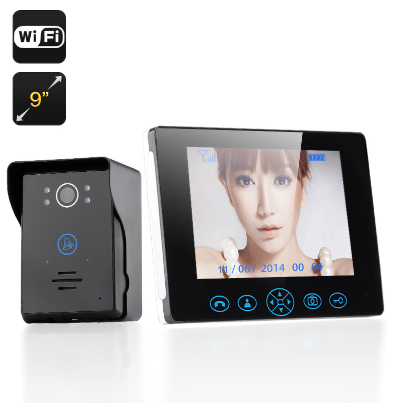 Wholesale Wireless Video Door Phone with 9 Inch Monitor (Night Vision, Touch Control, 300m Wireless, Tamper Alarm)