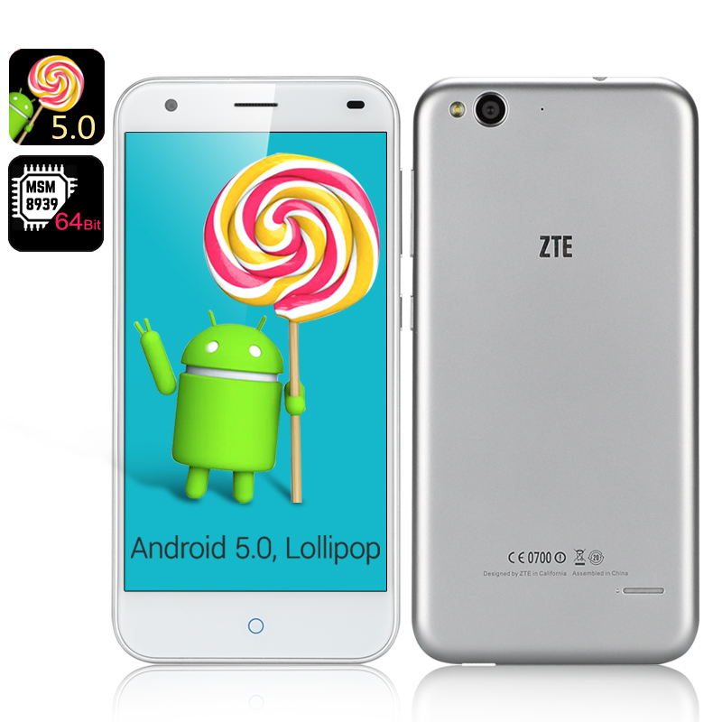 Wholesale ZTE Blade S6 5 Inch Android 5.0 4G Smartphone (1280x720, Octa Co