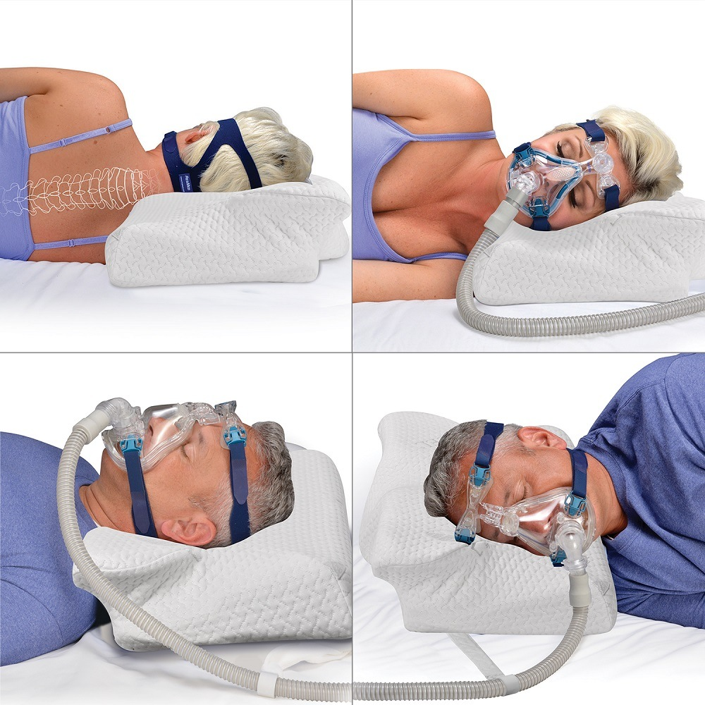 Wholesale MOYEAH CPAP Pillow Anti Snore Memory Foam Contour Design Reduces