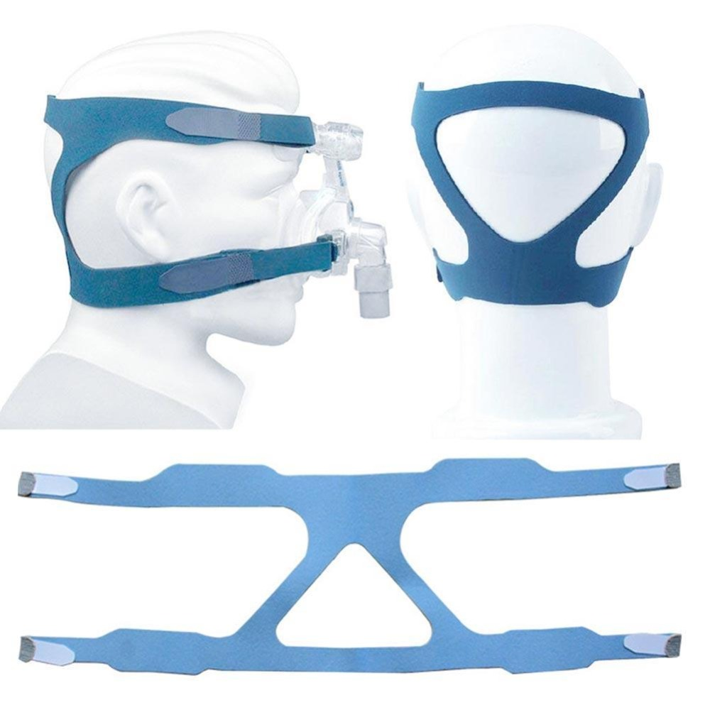 Wholesale MOYEAH Universal CPAP Headgear Strap Elastic Fiber Headgear for All Nasal and Full Face Mask - Blue