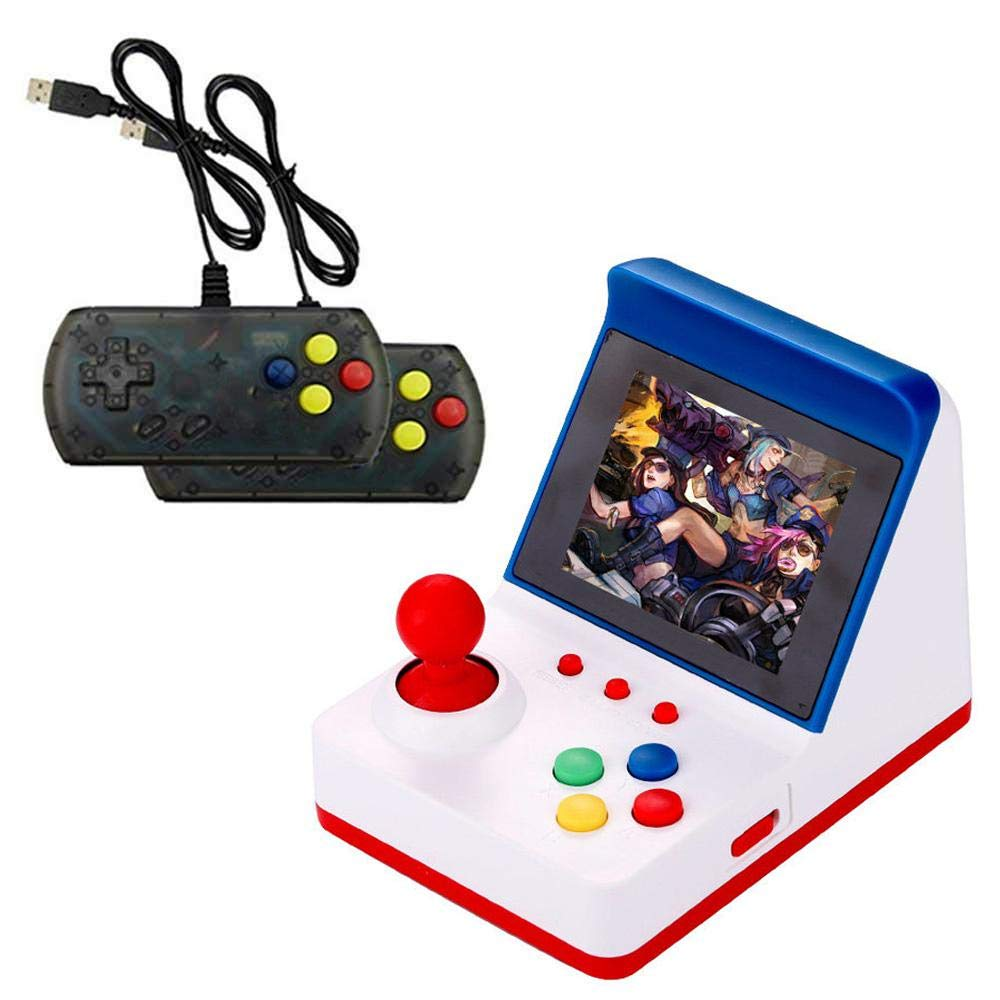 Wholesale Portable Retro Mini Arcade Station Handheld Game Console Built-in 360 Video Games Classic FC Game - Blue