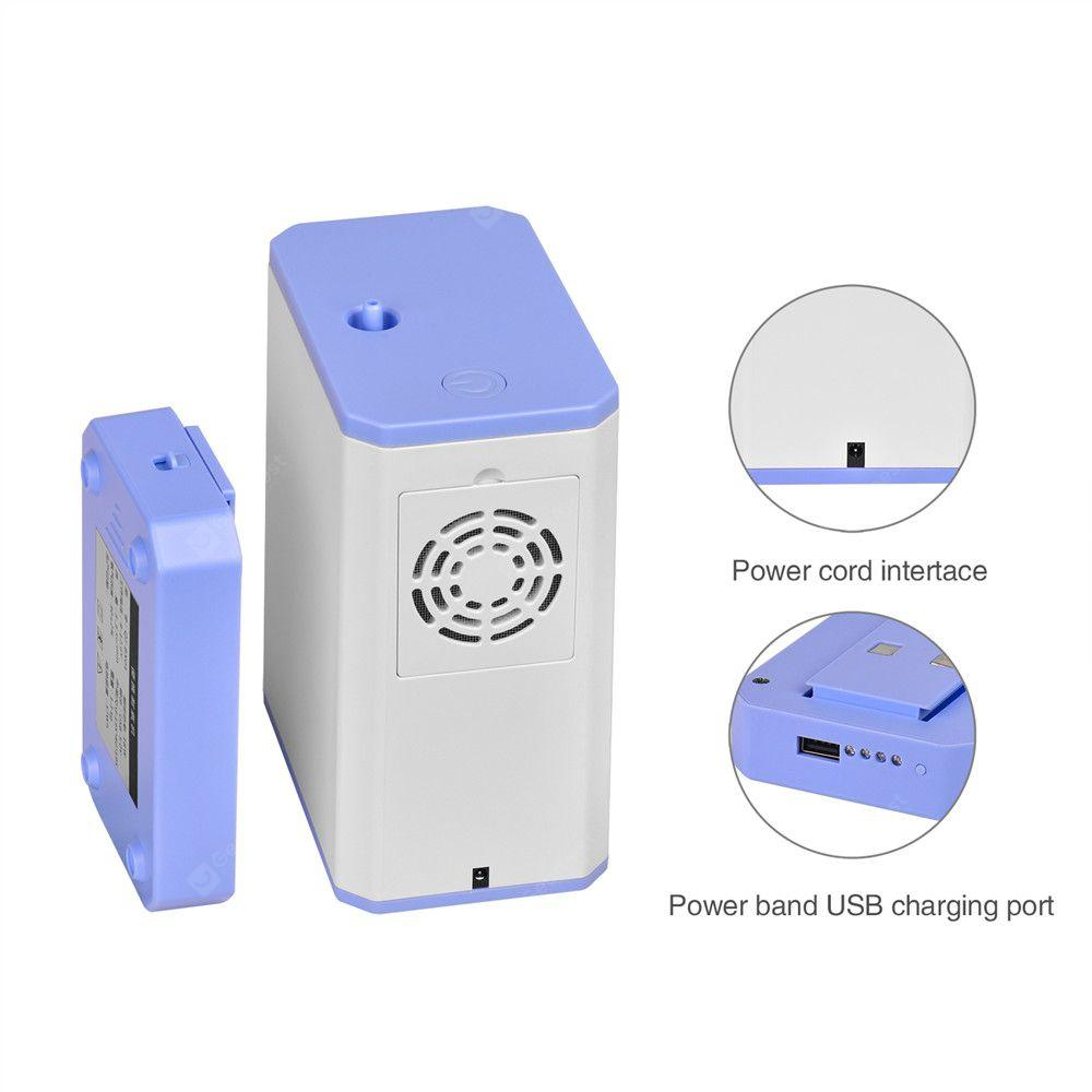 Portable Home Medical Oxygen Generator Concentrator with 6000 mAh Power Bank, Nasal Cannula Air Purifier - White