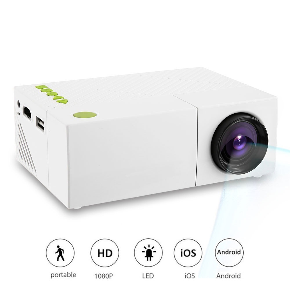 Wholesale YG310 HD 1080p Mini Portable Home Theater LED Projector (HDMI, 6