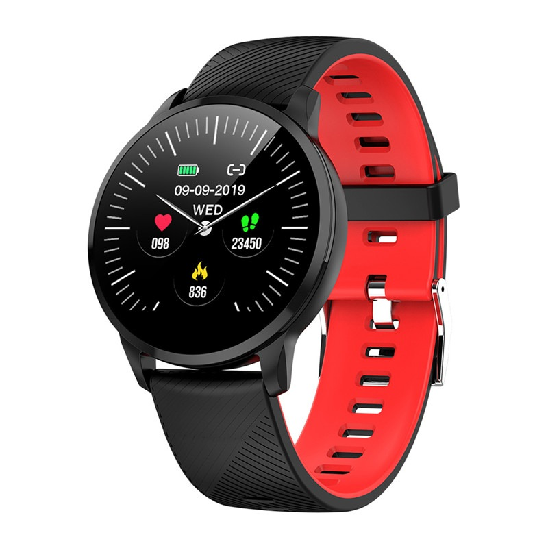 1.22 Inch Bluetooth Smart Watch with IP67 Waterproof, Sports Fitness Tracker, Heart Rate Monitor, Camera Remote Control - Rose Gol